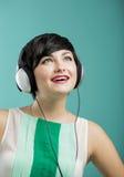 Girl listen music Stock Image