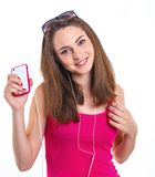 Girl listen music. Stock Photography