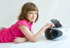 Girl listening Royalty Free Stock Image