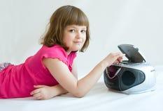 Girl listening Royalty Free Stock Image
