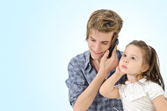 Girl listening a Man Stock Image
