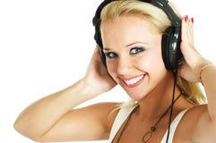 Girl Listening Music Stock Image