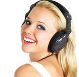 Girl Listening Music Stock Photography