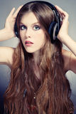 Girl listening music Royalty Free Stock Photo