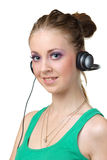 Girl listening music Stock Photo