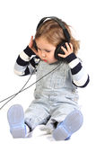 Girl listening music Royalty Free Stock Image