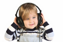 Girl listening music Royalty Free Stock Image