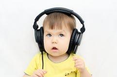 Girl listening music Stock Photo