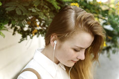 Girl Listening Music Radio Concept royalty free stock photography