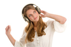 Free Girl Listening To Music Royalty Free Stock Images - 19608559