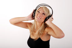 Girl listening to the music Royalty Free Stock Image