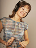 Girl Listening to Music Stock Photography