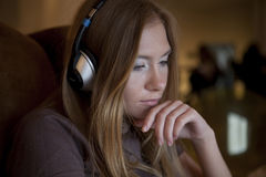 Girl Listening To The Music Royalty Free Stock Photo