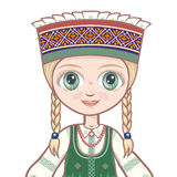 The girl in the Lithuanian suit. Avatar Stock Photo