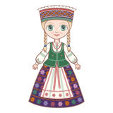 The girl in the Lithuanian suit. Royalty Free Stock Photo