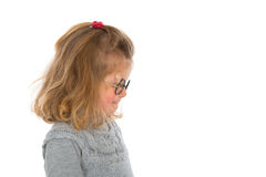 Girl. Litte girl with round glasses Royalty Free Stock Photo