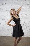 Girl in Little black dress Royalty Free Stock Photography