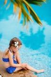 girl little pool Стоковые Фото