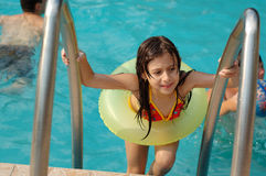 girl little pool 免版税库存图片