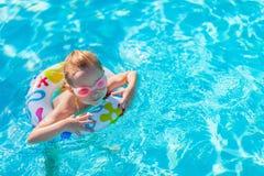 girl little pool Стоковые Изображения RF