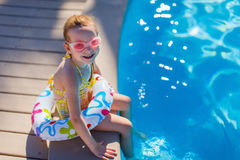 girl little pool Стоковая Фотография RF