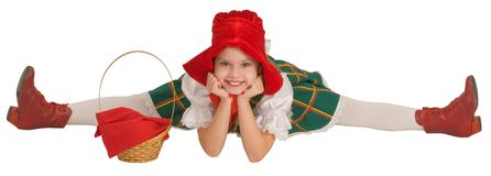 The girl - the Little Red Riding Hood. Royalty Free Stock Photo