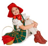 The girl - the Little Red Riding Hood. Stock Images