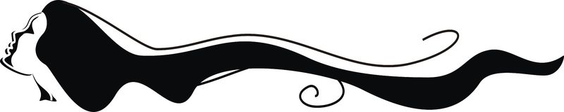 Girl ,logo Stock Photo