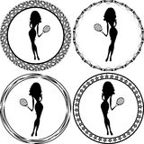 Girl logo Royalty Free Stock Images