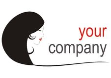 Girl logo_your company Stock Photography