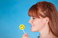 Girl with Lolipop Stock Photos