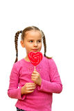 Girl with lollipop. Royalty Free Stock Image