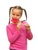 Girl with lollipop. Stock Photography