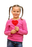 Girl with lollipop. Royalty Free Stock Photo