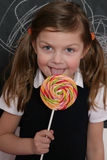 Girl and lollipop Stock Photo