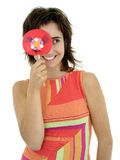 Girl with lollipop Stock Photo