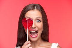 Girl with lollipop. Stock Photo
