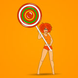 Girl with lollipop Stock Image