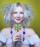 Girl with lollipop Stock Photo