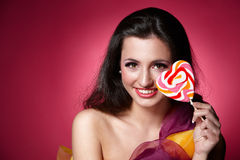 Girl with a lollypop Royalty Free Stock Photos