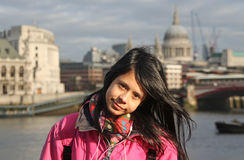 Girl in London Royalty Free Stock Photography
