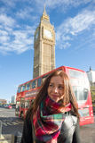 Girl in London Stock Image