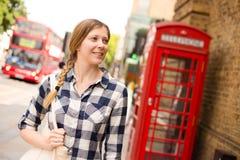Girl in london Royalty Free Stock Image