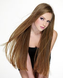 Girl with  long beautiful hair Royalty Free Stock Photography