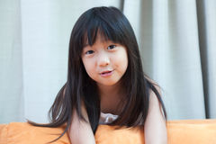 Girl with long black hair Royalty Free Stock Photography