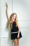 Girl with long blond hair. Portrait beautiful girl with long blond hair Royalty Free Stock Image
