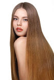 Girl with long blond hair Royalty Free Stock Images