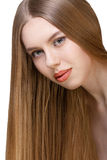 Girl with long blond hair Stock Image