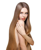 Girl with long blond hair Royalty Free Stock Photography