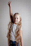 Girl with long blonde hair Royalty Free Stock Photo